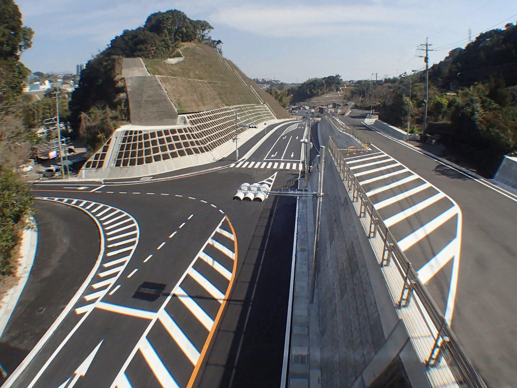 宇宿広木線道路築造工事  (その10)