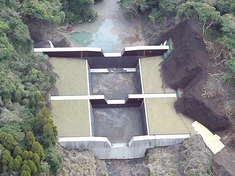 桜島地区治山工事  (あみだ川第一支流)