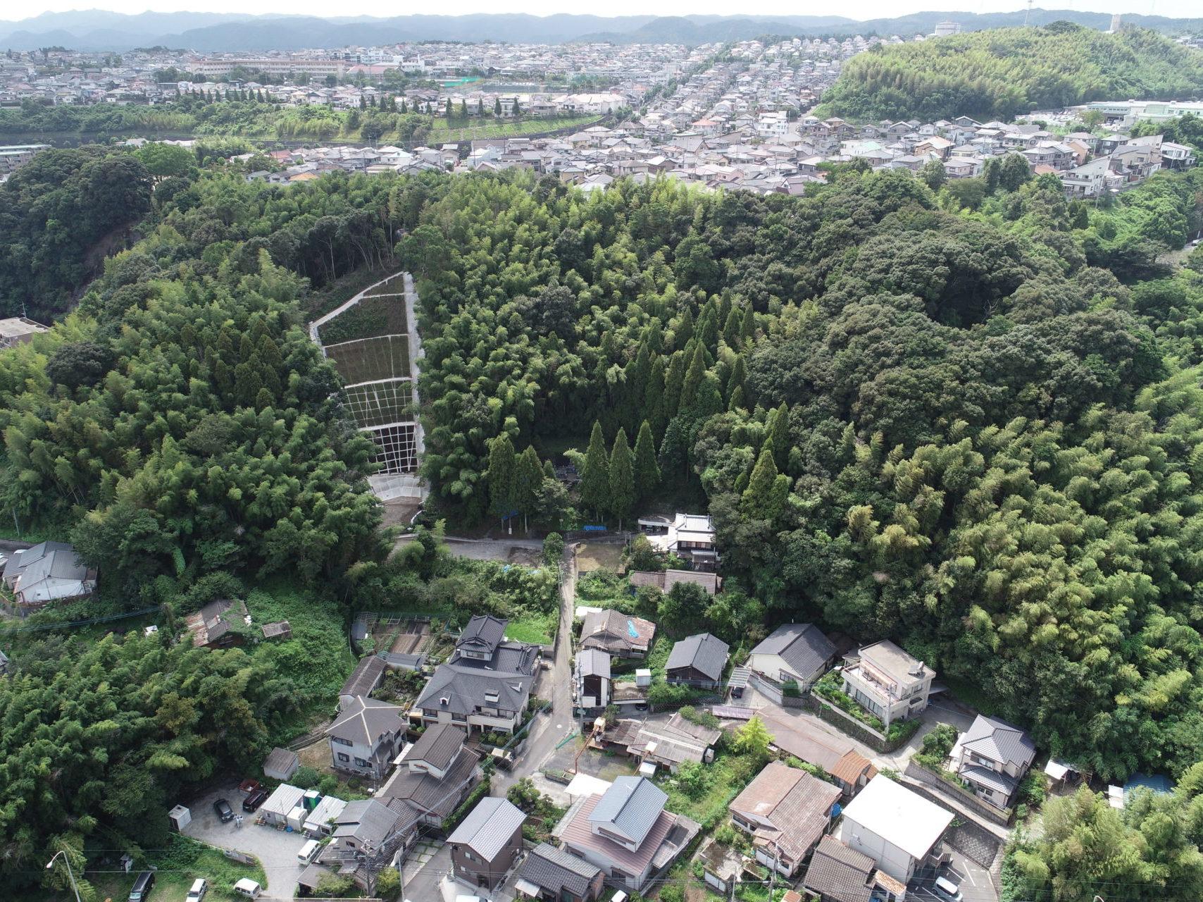 急傾斜地崩壊対策工事(大峯3地区)
